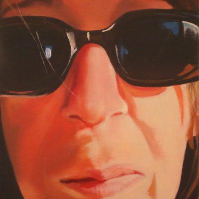 Alexandra Wacker - Selbstportrait mit Brille - 2014