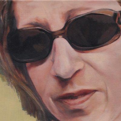 Alexandra Wacker - Selbstportrait mit Brille - 2011